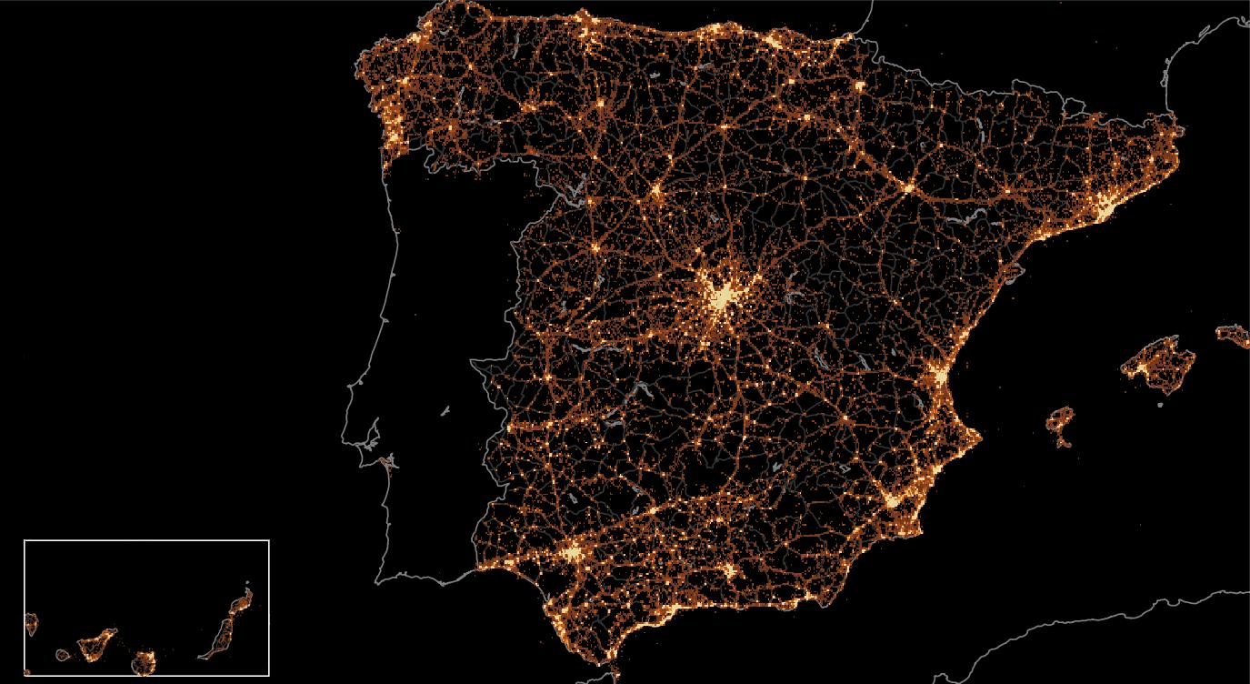 Language Map Of Spain.Twitter Language Map Spain